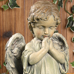 Statues flowers plants gift baskets from viviano flower shop for Praying angel plant