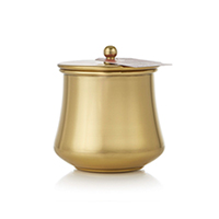 Thymes Simmered Cider Candle Gold Kettle Cup #0530750200