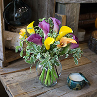 Simply Mini Callas #131017 Viviano  vase arrangement