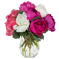 Pretty Peonies #131518 Viviano  flower special geometric vase arrangement