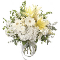 Fair Lady #133611 Viviano  floral design in white & cream