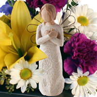 Angelic Wishes #149615 Viviano Flower Shop floral  design: flowers and Willow Tree gift sculpture for many occasions