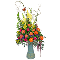 Hope In Bloom #157118F Viviano  sympathy and memorial garden gift with fresh cut flowers choice of color