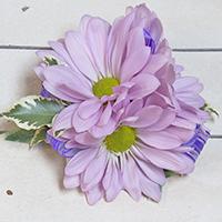 Rapunzel Corsage #17COR380 Viviano small stretchy wristlet of daisy pompoms