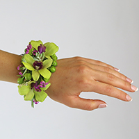 Evermore Corsage #17COR408 Viviano Flower Shop arrangement to wear with real bits of succulents