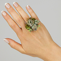 4-Keeps Ring #17FR03 Viviano succulent plant design for prom homecoming and events