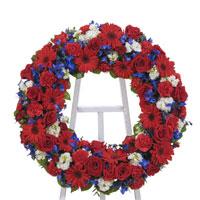 Patriotic Wreath on Easel #193210 Viviano