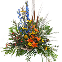 Woodland Side Piece #194216 Viviano Flower Shop funeral & memorial service floral accent arrangement