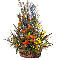 Woodland Traditions #194416 Viviano Flower Shop funeral & memorial service floral seasonal arrangement