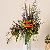 Woodland Memorial Accent #194616 Viviano Flower Shop funeral & memorial service floral seasonal arrangement