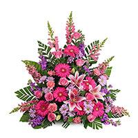 Adored Side Piece #195216 Viviano Flower Shop funeral service floral arrangement collection accent design
