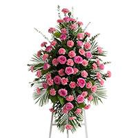 Beloved Spray on Easel #198316 Viviano Flower Shop funeral service floral arrangement collection accent design