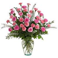 Beloved - Lovely #198616 Viviano funeral & memorial service floral arrangement with roses, carnations
