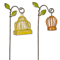 Fairy Garden Birdcages, Set of 2 #204GG266 Viviano Flower  Shop mini all-weather accessory from the Gypsy Garden Collection