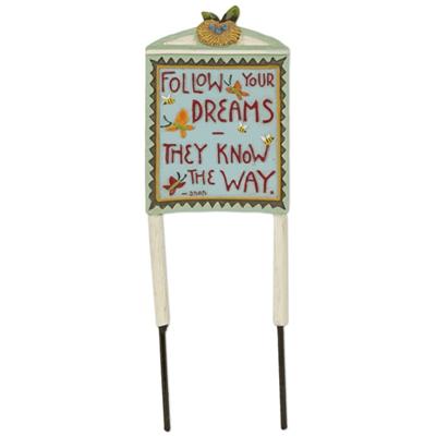Fairy Garden Follow Your Dreams Sign