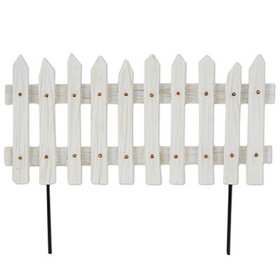 Fairy Garden White Picket Fence Panel