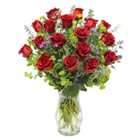 Bella Rosa Premium #2P  Viviano long- stemmed roses arranged with filler flowers and fancy greens