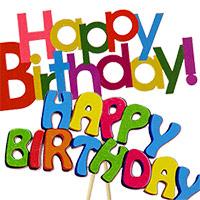 Jumbo Happy Birthday Pick asst #313855MUL Viviano