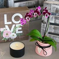 GH Mini Heart Charm Orchid #31621 Viviano