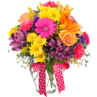 Here Comes the Sun #32316 Viviano Flower Shop flower arrangement in bright colors