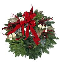 Fancy Wreath #334 Viviano evergreen Christmas holiday outdoor decor