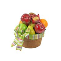 Natures Bounty #39115 Viviano Flower Shop food basket arrangement of fruit and gourmet snacks