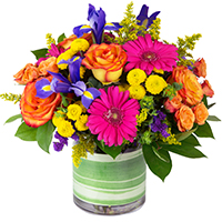 Bright Side #42515  Viviano cheery floral  arrangement in bright colors