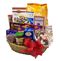 V&J Gourmet Basket #72218 Viviano gift basket arrangement of  gourmet food items