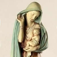 Blessed Mother Statue #73311368 Viviano Flower Shop Keepsake Madonna Garden  Ornament By Roman For Sympathy