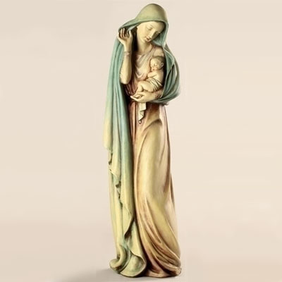 Charmant Blessed Mother Garden Statue