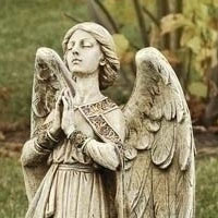 Garden Praying Angel Statue #73329011 Viviano Flower Shop keepsake gift by Roman for  sympathy, memorial, funeral