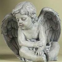 Cherub Garden Statue #73342526 Viviano Flower Shop  indoor & outdoor figurine by Roman for sympathy, funeral, memorial