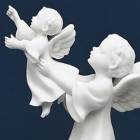 Comfort of Heaven Statue #73343737 Viviano Flower Shop sympathy figurine by Roman with gift box & poem for loss of a child