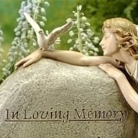 Memorial Angel w/Stone in loving memory #73362441 Viviano Flower Shop keepsake garden statue gift by Roman for sympathy, funeral