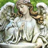 Kneeling Angel Birdfeeder #73617088  Viviano  Flower Shop keepsake statue gift for home and garden by Napco