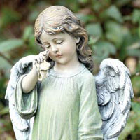 Weeping Angel #73617344   Viviano keepsake garden statue by Napco for sympathy, funeral, memorial