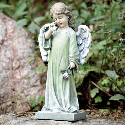 Weeping Angel Garden Statue Flowers Plants Gift Baskets from