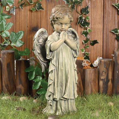 Novelty Gift Catalogs >> Praying Angel Boy Garden Statue - from Viviano Flower Shop, Detroit MI Florist