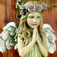 Praying Angel Girl Statue #73618495 Viviano Flower Shop home and garden decor by Napco for funeral, memorial