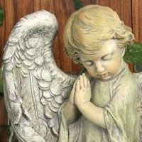 Baby Angel Statue #73618928 Viviano home & garden figurine by Napco for sympathy, funeral, memorial