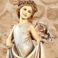 Angel w/Skirt Birdfeeder  #73619038 Viviano Flower Shop home and garden statue by Roman for sympathy, memorial, funeral