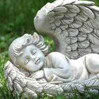 #73619734 Lying Angel Statue Viviano Flower Shop home and garden decor by Napco for  sympathy, funeral, memorial