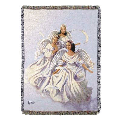 Novelty Gift Catalogs >> Angelic Trio Throw African-American angels - from Viviano ...
