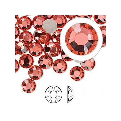 Swarovski Crystal Accent - Indian Pink - from Viviano Flower