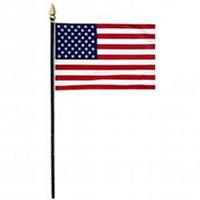 American Flag #768AB207 small United States flag add-on for patriotic arrangements, parades, and decorating