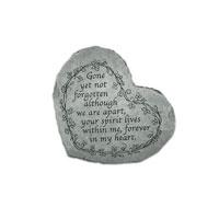 Garden Stone - Gone Yet Not Forgotten (heart shape)  #80708501 Viviano