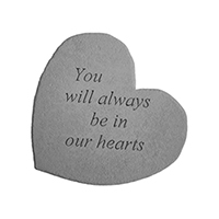 Garden Stone You Will Always Be In Our Hearts #80708606 Viviano
