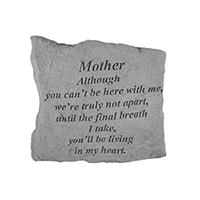 Garden Stone Mother Although #807157 Viviano weatherproof memorial gift