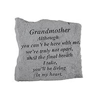 Garden Stone Grandmother Although #807159 Viviano weatherproof memorial gift