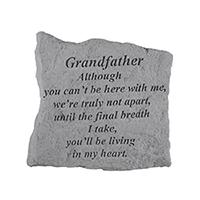 Garden Stone Grandfather Although #807160 Viviano weatherproof memorial gift